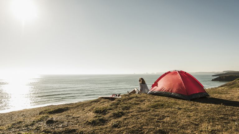 Campsites by the beach
