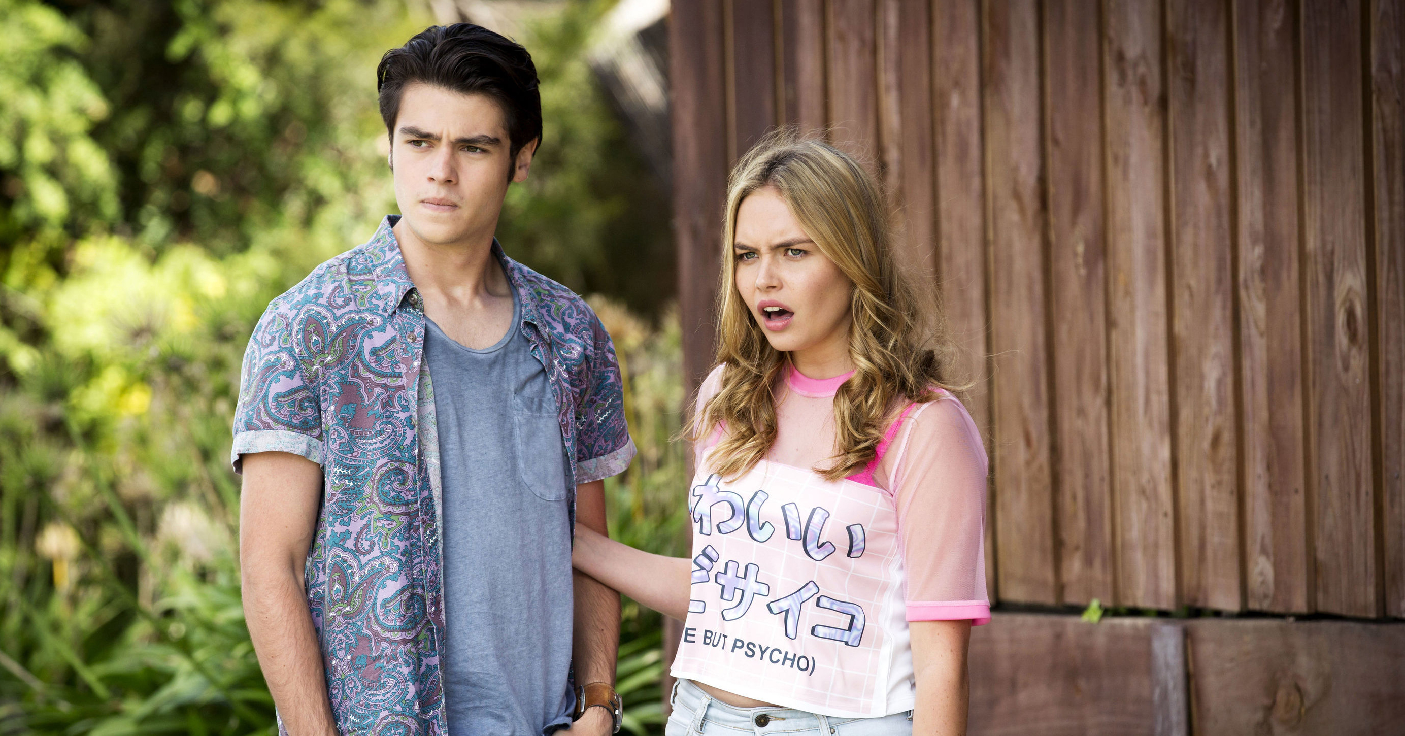 Xanthe Canning and Ben Kirk in Neighbours
