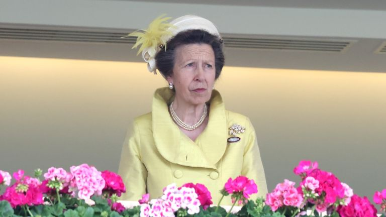 Princess Anne, Princess Royal attends Ladies Day during Royal Ascot 2021 at Ascot Racecourse on June 17, 2021 in Ascot, England.