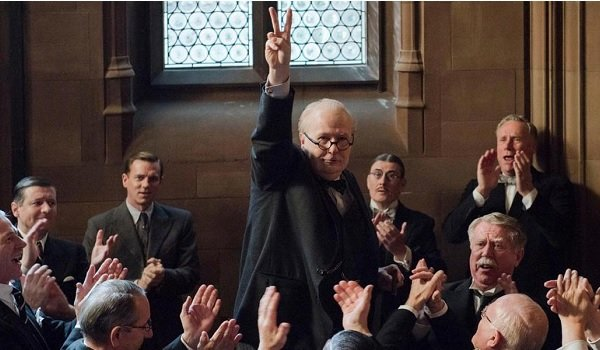 Darkest Hour Gary Oldman Churchill's salute