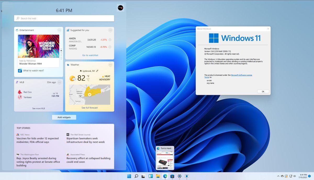 Windows 11 Build 22000.71 Adds New Widget, Button Type