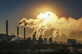 Factory emitting harmful gas