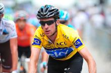 Race leader Bradley Wiggins (Sky Procycling)