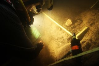 Underwater excavation site