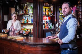 Mick and Linda are back behind the Queen Vic's bar in EastEnders