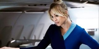 Kaley Cuoco as Cassie Bowden in The Flight Attendant.