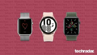 Three of the best smartwatches: Samsung Galaxy Watch 4, Apple Watch 6 and Apple Watch SE