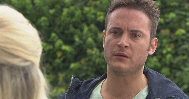 Many Richardson proposes to Luke Morgan in Hollyoaks.