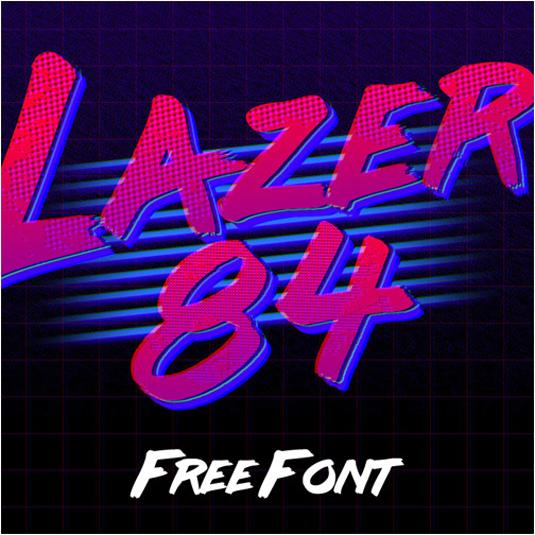 Free retro fonts: Lazer 84