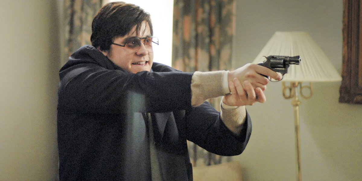 Jared Leto as Mark David Chapman in the film Chapter 27.