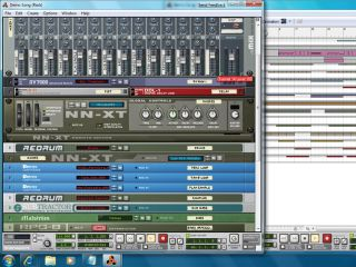 It works! Propellerhead's Reason running in the Windows 7 Beta.