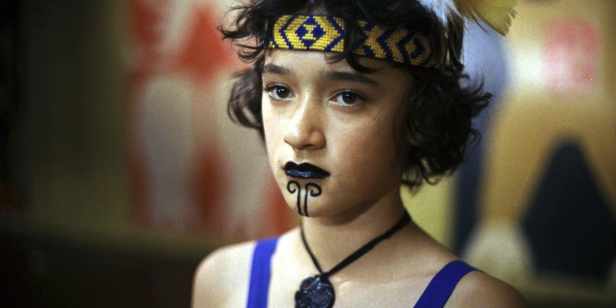 Keisha Castle-Hughes as Paikea in traditional Māori makeup in Whale Rider
