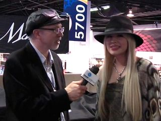 Orianthi on the Dean Markley Strings stand