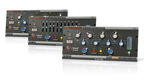 (L-R) The three-band parametric EQ P50A, 10-band graphic EQ P60G and four-band parametric EQ P50B