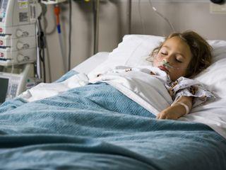 girl, hospital