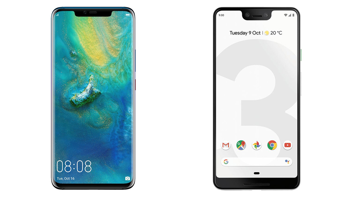 Huawei Mate 20 Pro vs Google Pixel 3 XL: which boasts the best