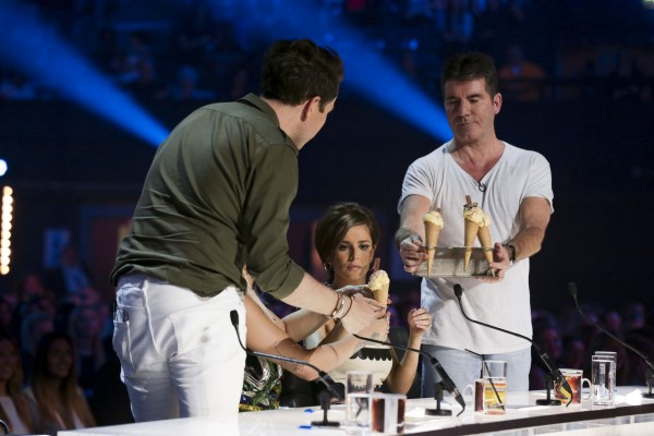 The X Factor judges have ice cream