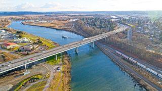 Bridge over Snohomish river in Everett, Washington.