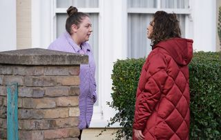 EastEnders Bernadette Taylor and Evie Steele