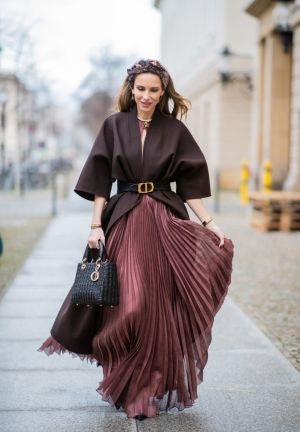 Alexandra Lapp is seen wearing Dior Cruise 2020 collection dress