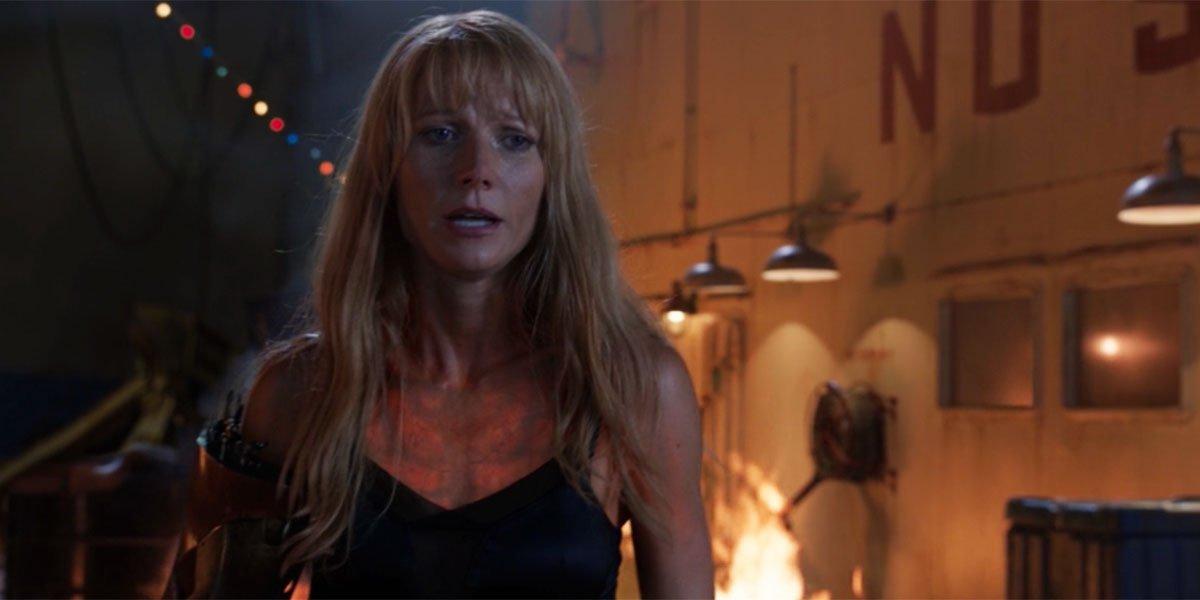 Paltrow in a sports bra in Iron Man 3
