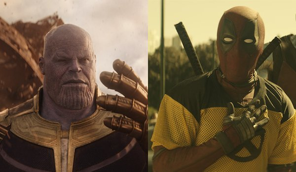 Avengers: Infinity War and Deadpool 2 side-by-side
