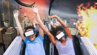 Samsung Gear VR Six Flags rollercoaster