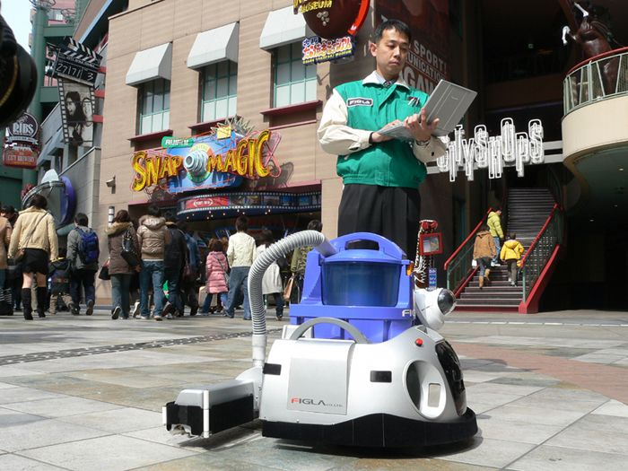 janitor robot does more than clean floors