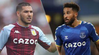Aston Villa vs Everton live stream — Emi Buendia of Everton and Andros Townsend of Everton