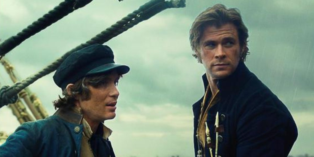 Cillian Murphy and Chris Hemsworth in In the Heart of the Sea