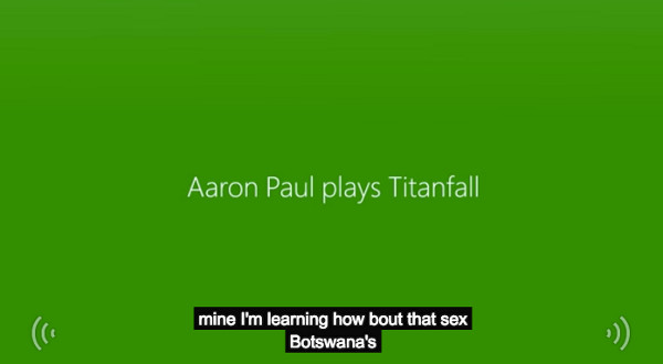 YouTube closed captioning for Titanfall