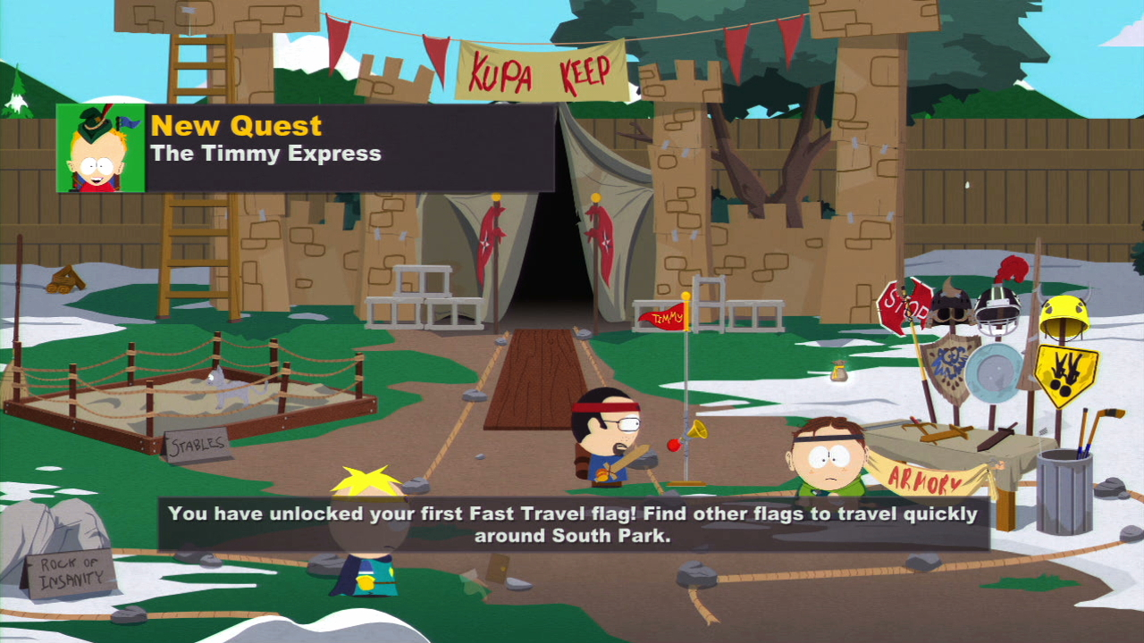 South Park Stick Of Truth Map