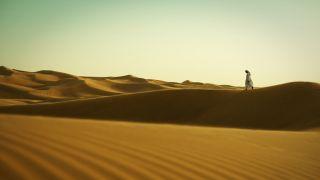An almost deserted desert.