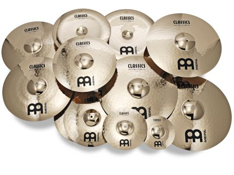 The range has a choice of 18 different cymbal types and sizes, categorised Medium or Powerful.