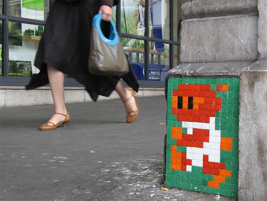 Street art: Invader