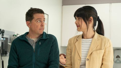 Ed Helms and Patti Harrison in 'Together Together.'