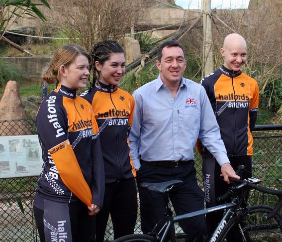Halfords Bikehut riders & Boardman