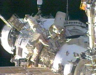 Spacewalk Ends Early for Space Station Crew