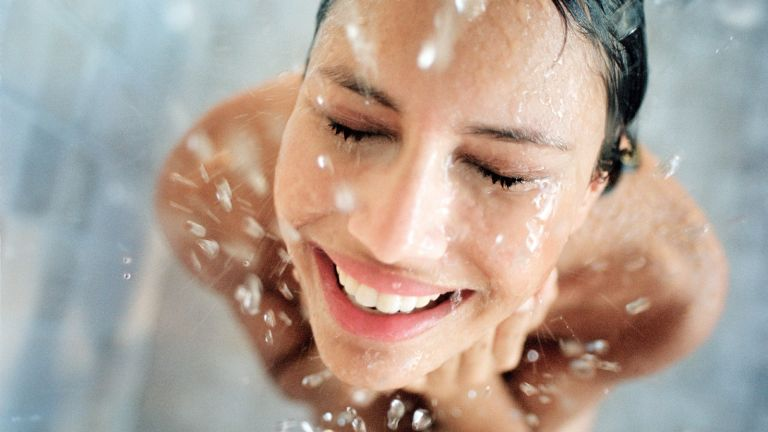 Why showering every day is bad, Woman showering