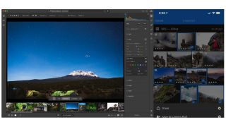 Adobe Lightroom Targeted Adjustment Tool and ad hoc photo sharing feature.
