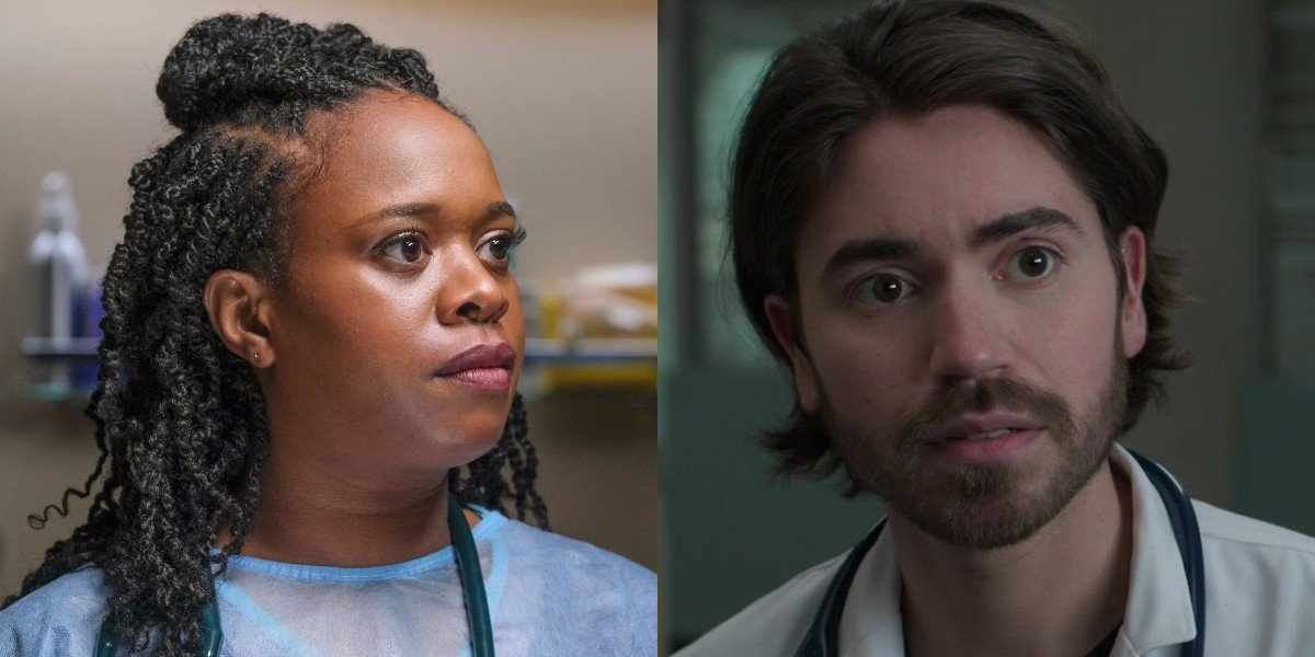 Bria Samoné Henderson as Dr. Jordan Allen and Noah Galvin as Dr. Asher Wolke on The Good Doctor