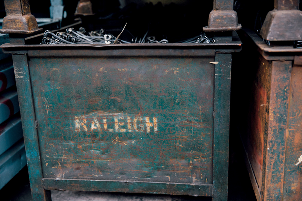 11d6a6c33aa Pallets from the days of Raleigh ownership go on forever. This one probably  dates from