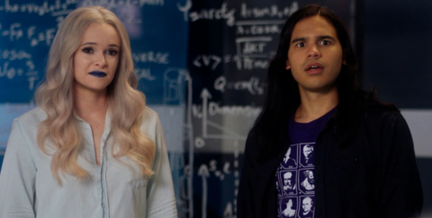 Caitlin Snow (Danielle Panabaker) and Cisco Ramone (Carlos Valdez) in 'The Flash.'