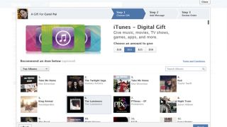 Facebook Gifts now offering iTunes cards