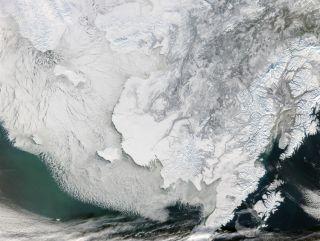 bering sea strait sea ice, arctic sea ice, measuring sea ice, ice research, arctic research, climate change, arctic news