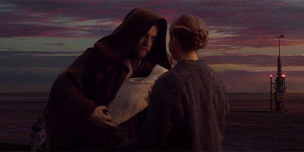 Obi-Wan giving up Luke on Tatooine