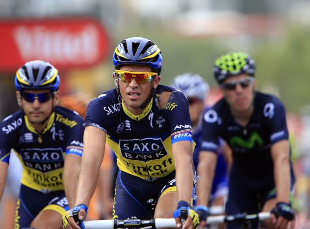 Alberto Contador at finish, Tour de France 2013, stage one