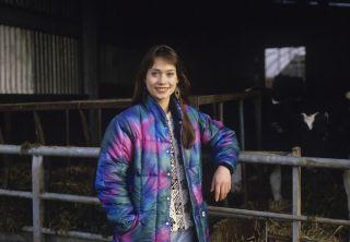 Emmerdale star Leah Bracknell filming the soap