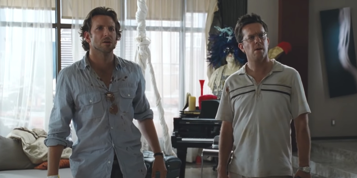 Bradley Cooper and Ed Helms in The Hangover