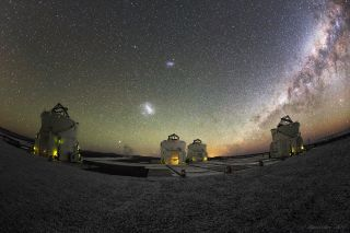 VLT, large and small magellanic clouds, milky way